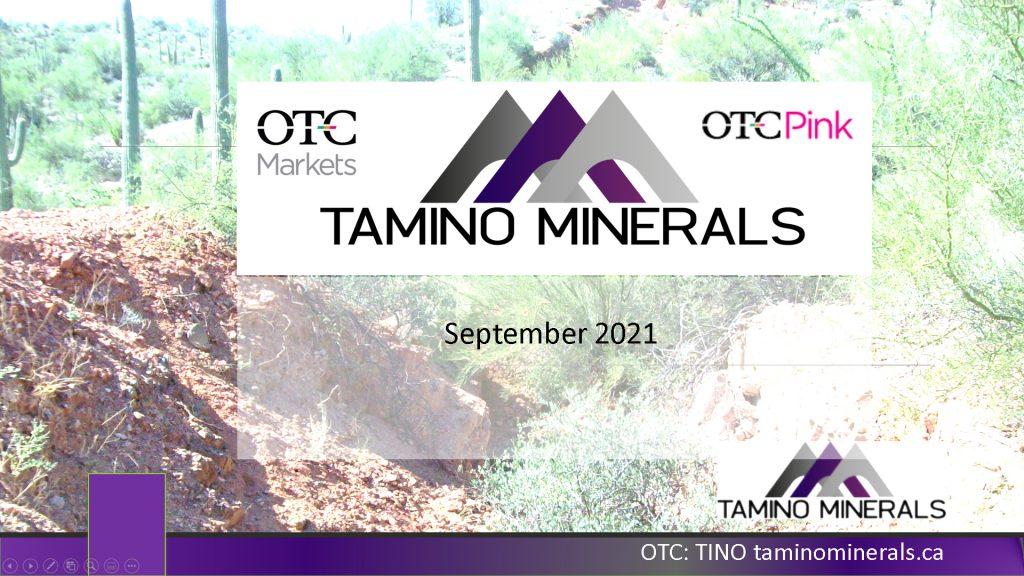 Tamino September 2021 Corporate Presentation